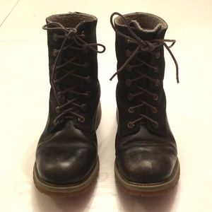 TIMBERLAND Dark Blue Lace-Up Boots - Size 6.5